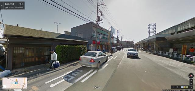 和光市駅の北口側周辺のストリートビュー