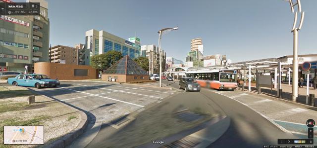 和光市駅の南口側周辺のストリートビュー