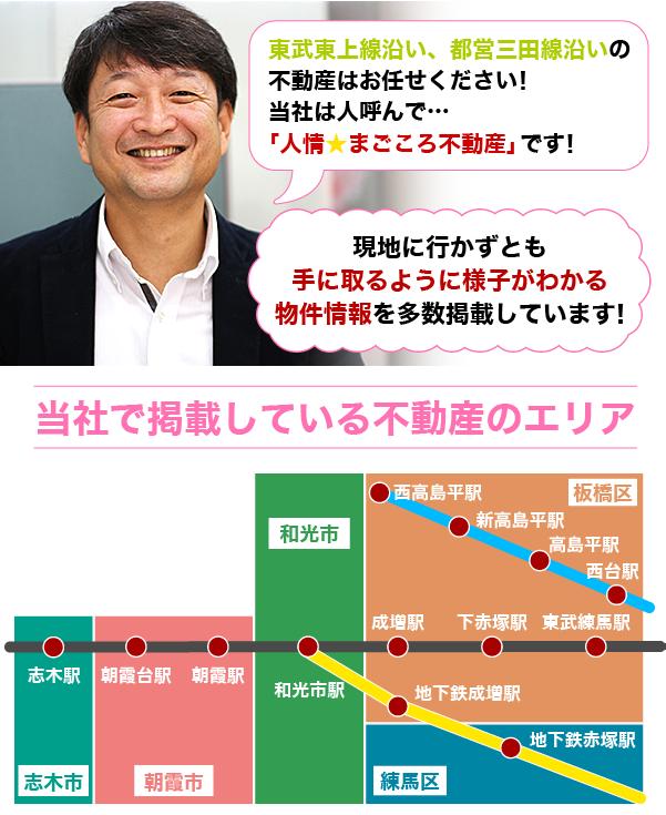 東武東上線沿い、都営三田線沿いの不動産はアイホームズにお任せください!