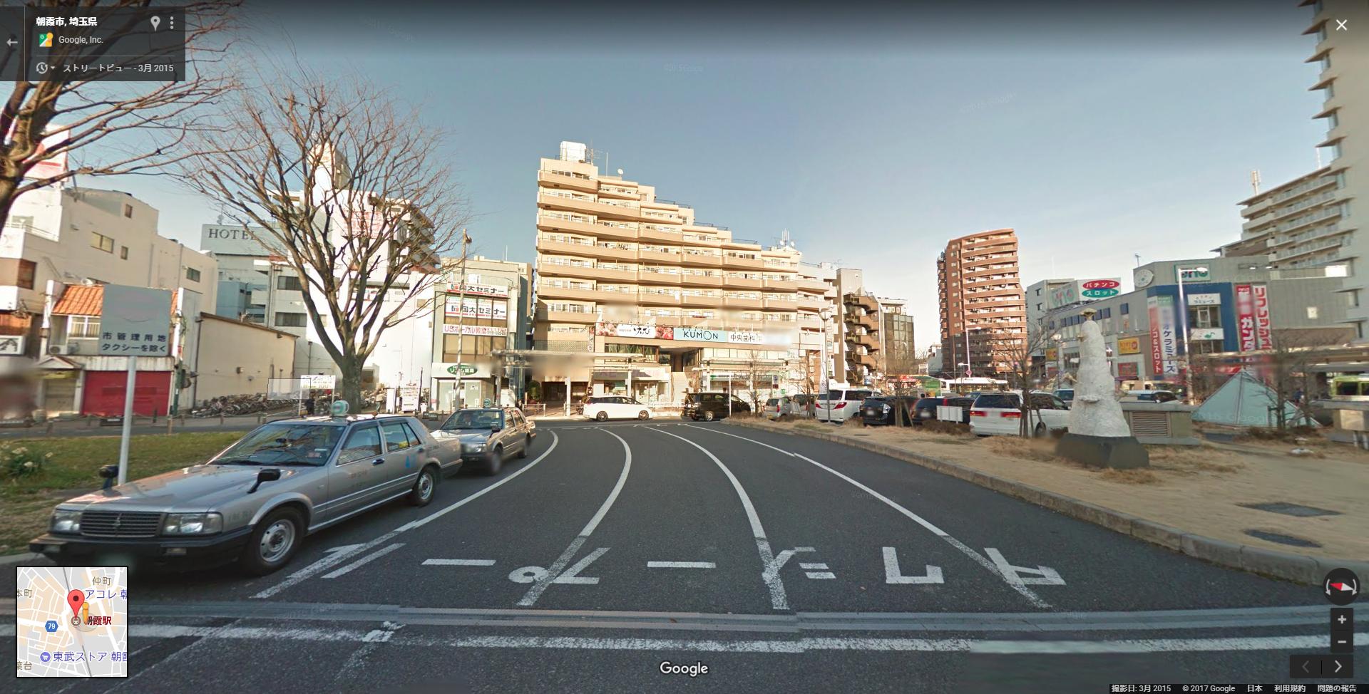 朝霞駅北口のストリートビュー